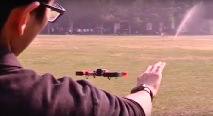Taiwanese Scientists Pilot a Drone Using an Apple Watch