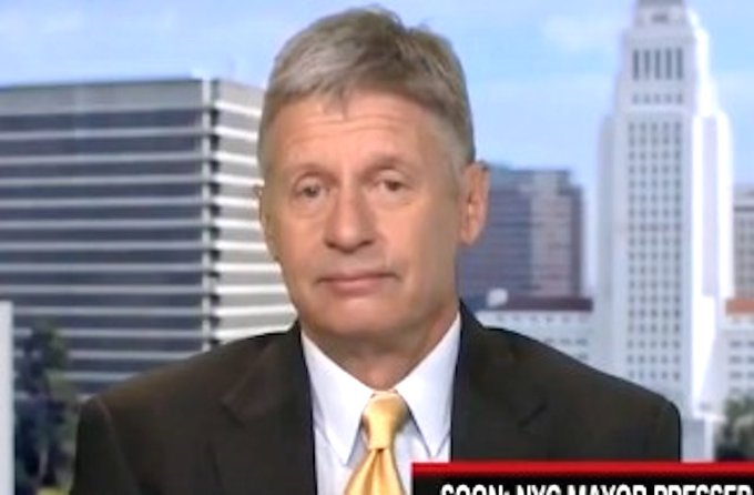 Gary Johnson On CNN: