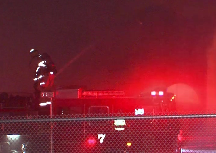 Long Beach train depot destroyed in overnight blaze