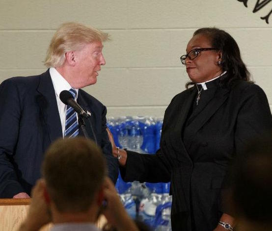 Pastor Interrupts Trump's Speech for Politicizing Event in Flint (Video)