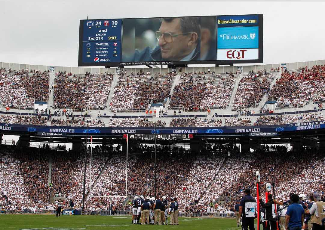 Temple students turn their backs during Joe Paterno tribute [Video]