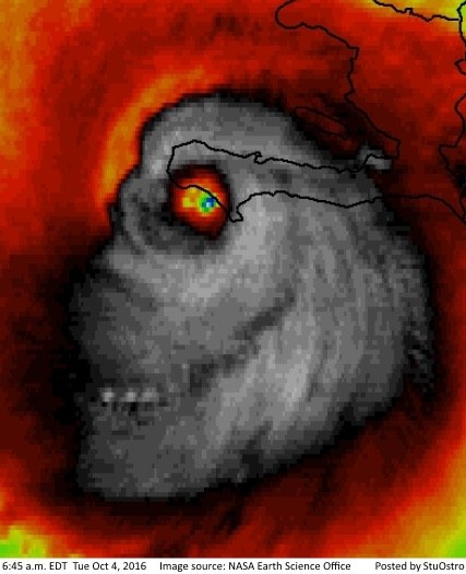 """Hurricane Matthew """"Skull"""" Image: Is It Real or Fake? [Photo]Hurricane Matthew """"Skull"""" Image: Is It Real or Fake? [Photo]"""
