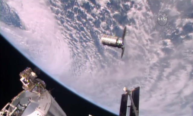 Orbital ATK's Cygnus launched from Wallops Island arrives at space station