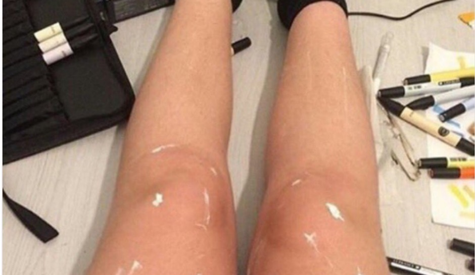 Shiny legs or just white paint? This optical illusion has the Internet talking