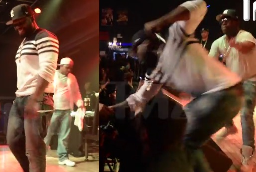 50 Cent Punches Fan, Proceeds To Invite Her On Stage (Video)