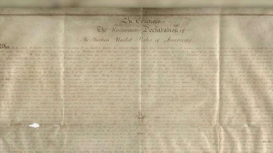 Rare Declaration of Independence found in Small British