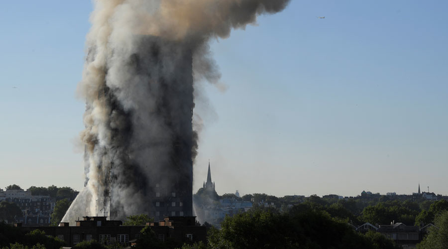 Fire In Grenfell Tower London: Six dead, 74 injured