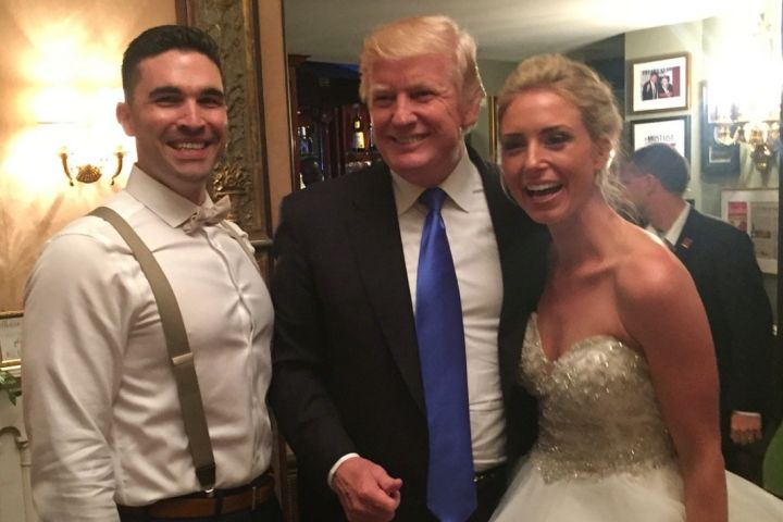 Trump Crashes New Jersey Wedding (Picture)