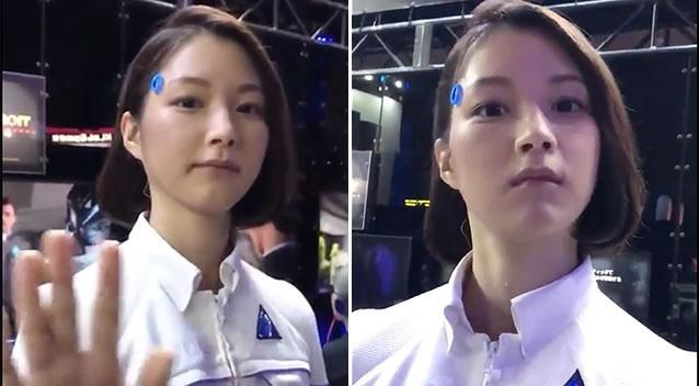 Android woman? Incredible video of eerily lifelike robot