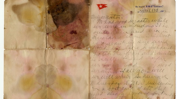 Titanic victim's letter sells for world record price at auction