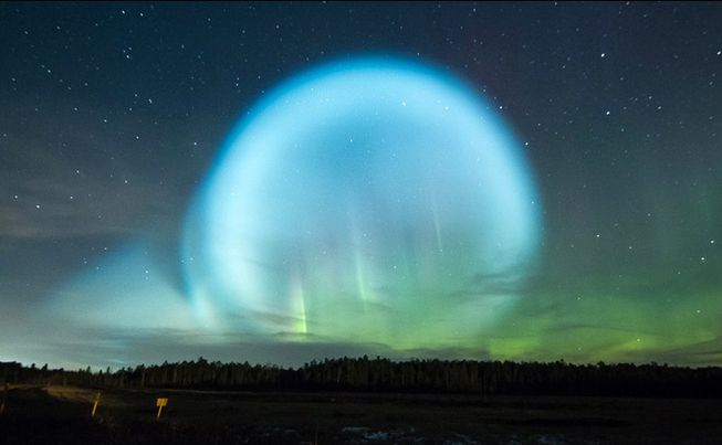 Giant Glowing Alien Orb Appears Over Siberia