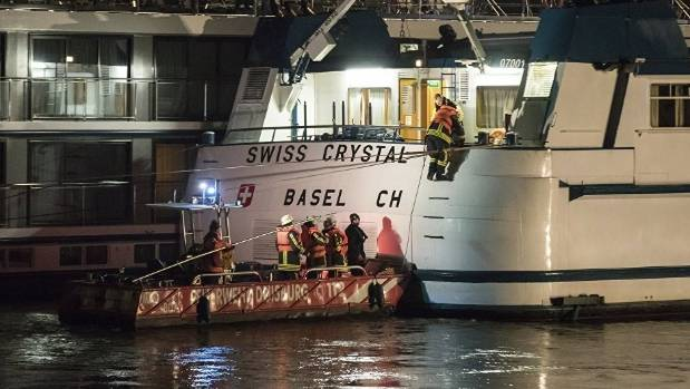 27 Injured as Tour Ship Hits Bridge in Germany
