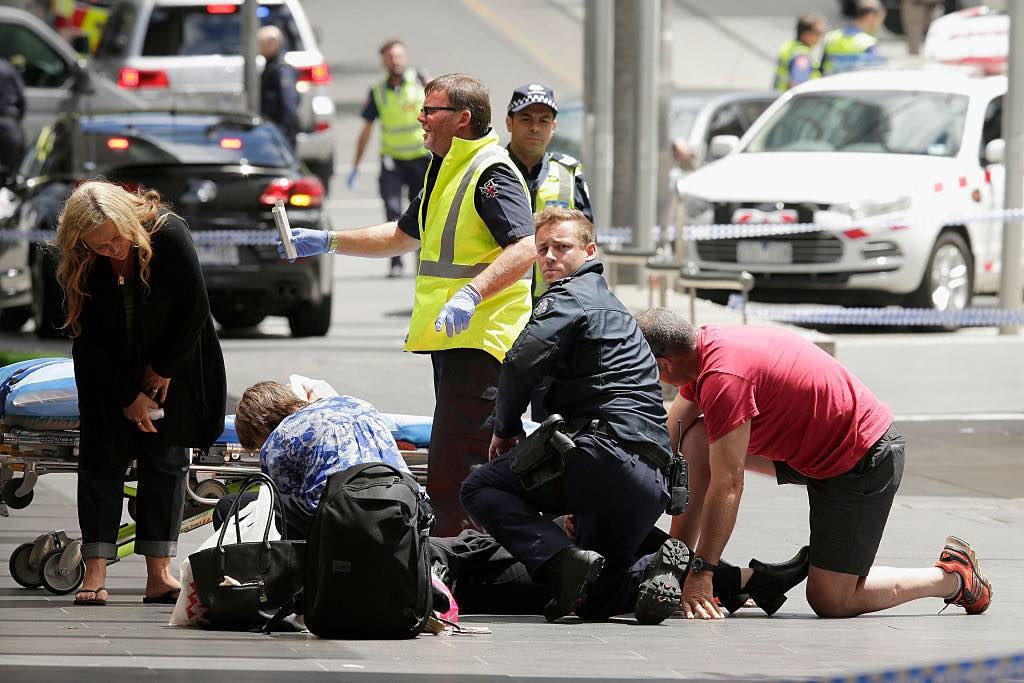 Car Hits Pedestrians In Melbourne Flinders Street