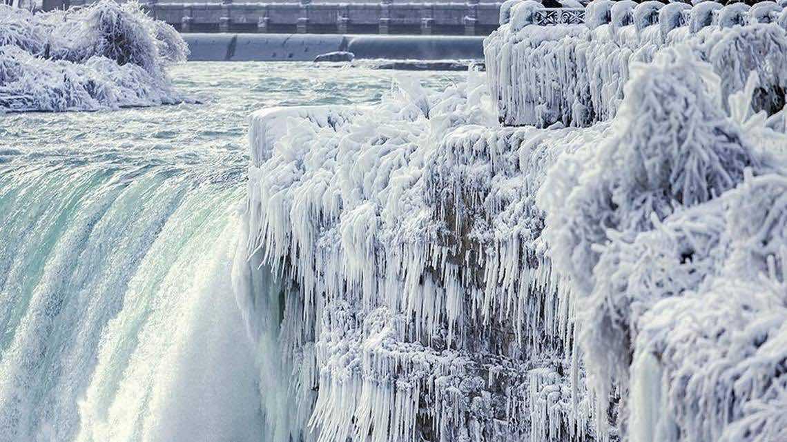 Niagara Falls Covered in Ice (Watch)