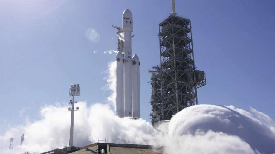 SpaceX fires rocket's engines in launch pad test (Watch)
