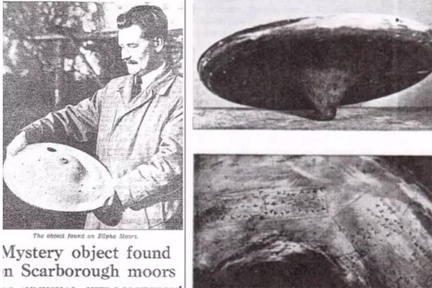 'British Roswell' UFO Wreckage Covered in Alien 'Hieroglyphics' Found in London