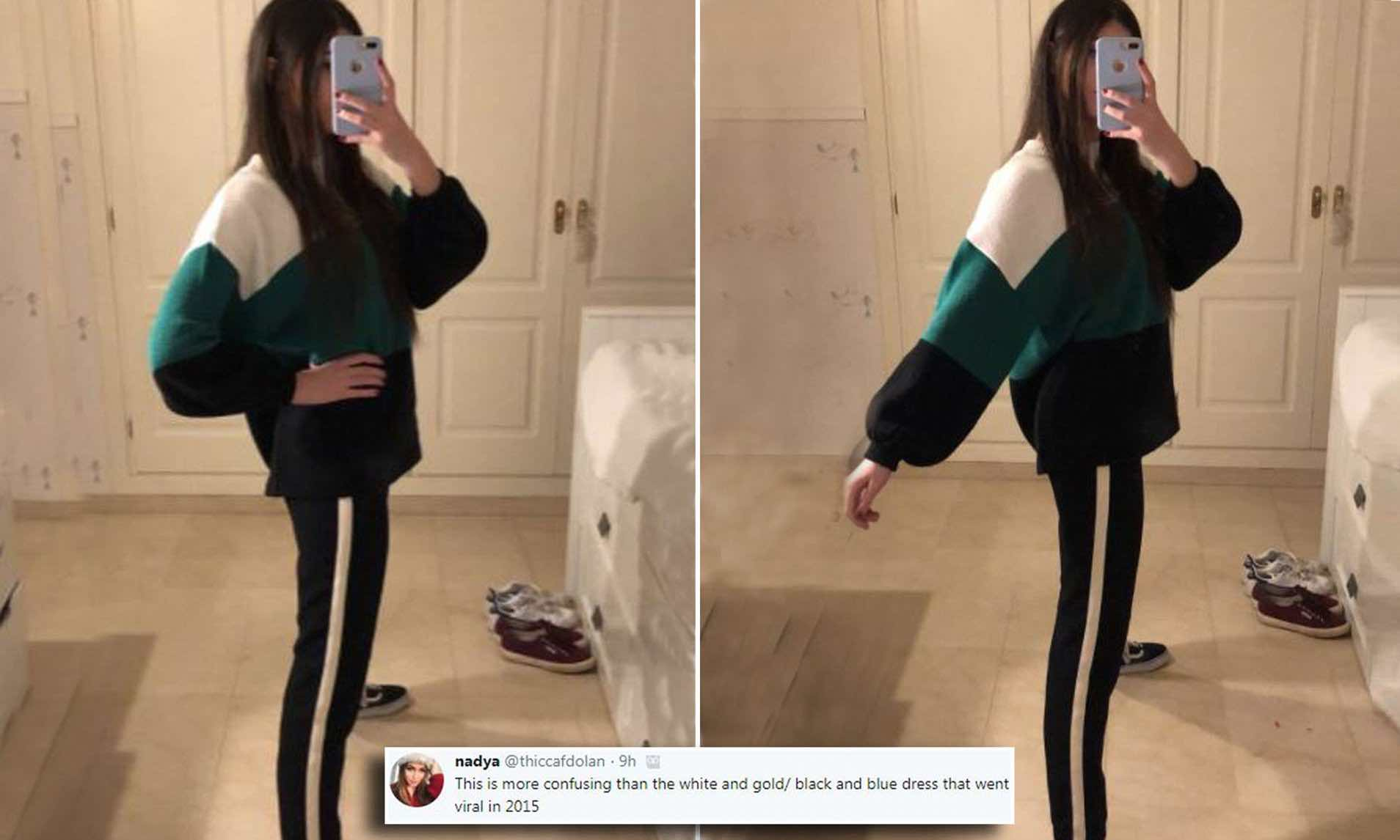 Optical Illusion Goes Viral, so do YOU see two legs or one?