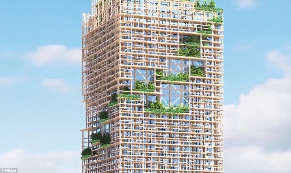 Tallest Wooden Skyscraper to Plant Itself in Tokyo