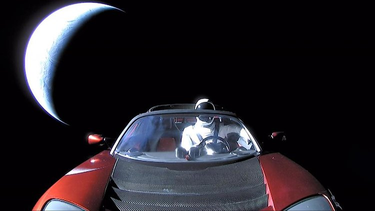 Tesla Roadster will eventually crash in space