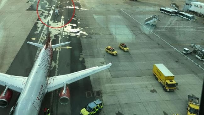 Plane 'runs over man's foot' at Gatwick Airport (Picture)