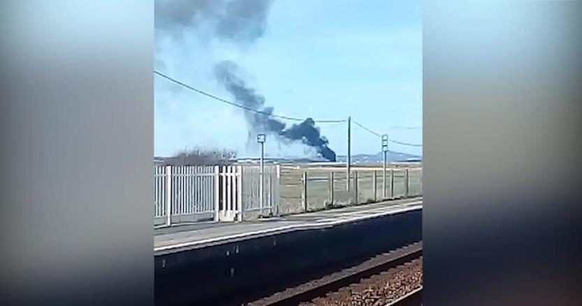 Red Arrows plane crash at RAF Valley