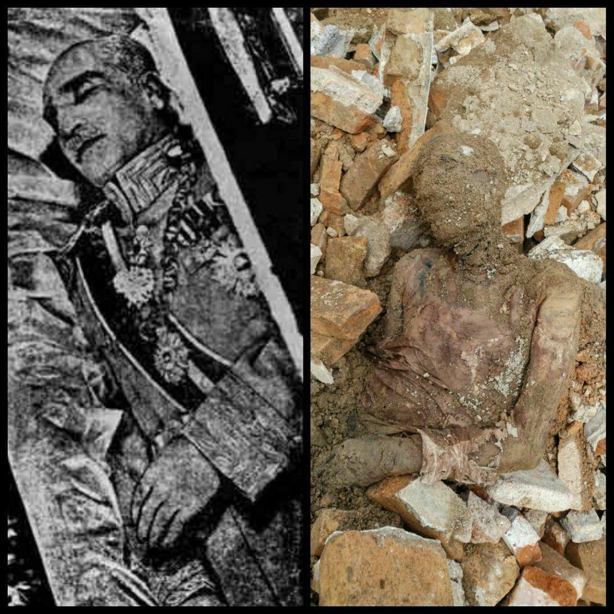 Mummified Body of Iran shah possibly found