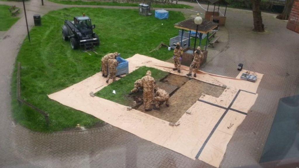 Salisbury clean-up begins in bench area, Report
