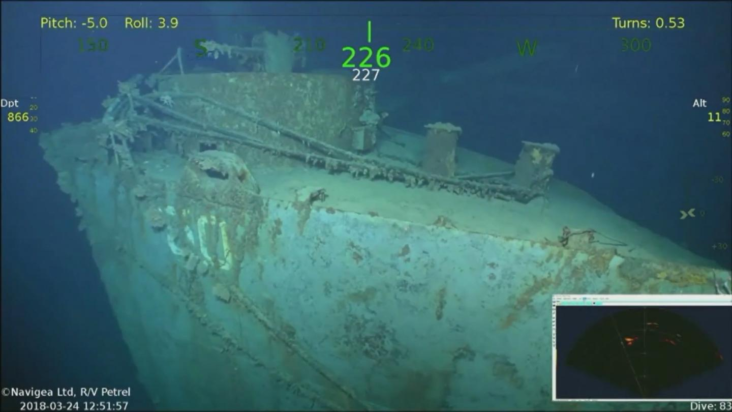 USS Helena wreck found by Microsoft co-founder's team, Report