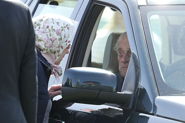 Prince Philip seen in public with the Queen for first time (Photo)