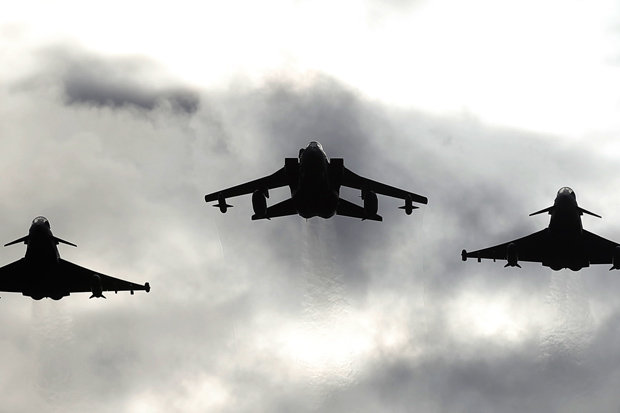 RAF Typhoons scrambled after Russian plane buzzes Nato airspace