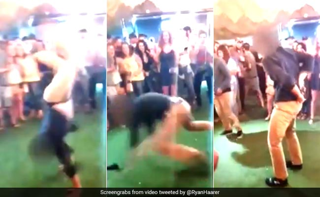 Dancing FBI agent drops and fires gun in nightclub (Video)