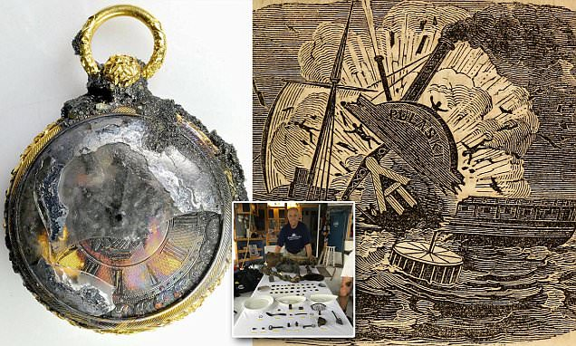 Gold watch found at 1838 shipwreck (Picture)