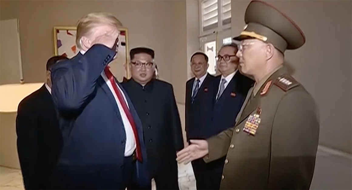 Trump Saluted a North Korean General (Picture)