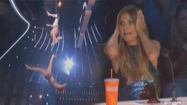 America's Got Talent trapeze stunt goes horribly wrong (Watch)