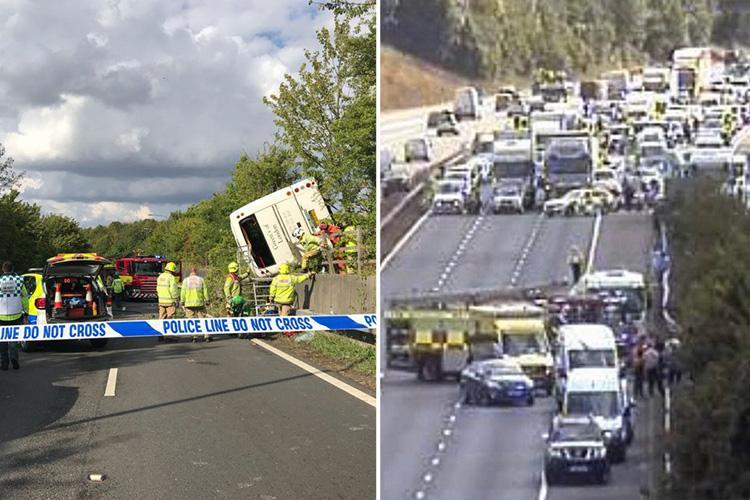 Baby Born at Scene of Massive Car Crash on Britain's M25, Report