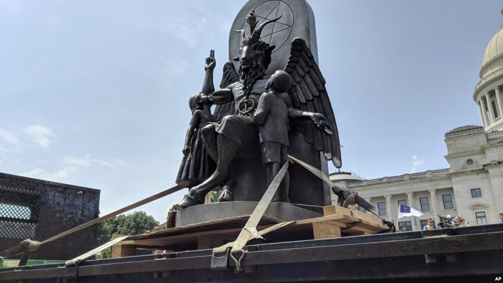 Lawmaker Irked By Satanic Temple Statue Display At Rally, Report