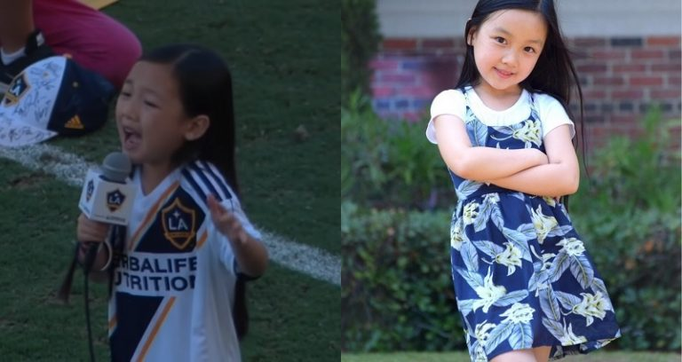 7-year-old nails national anthem at Galaxy game (Watch)