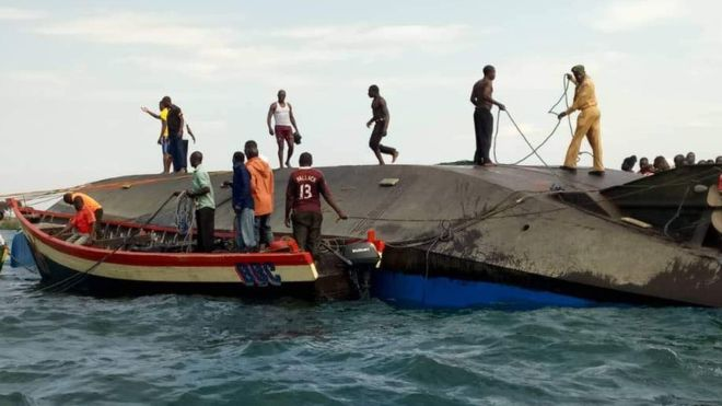 Tanzania ferry sinks in Lake Victoria, at least 100 dead