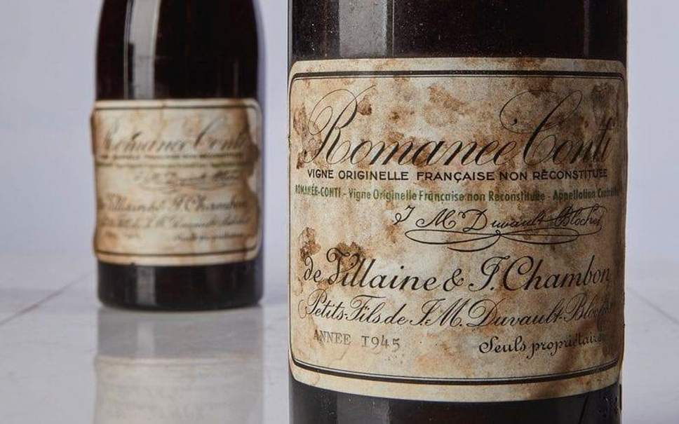 1945 wine auctioned in New York