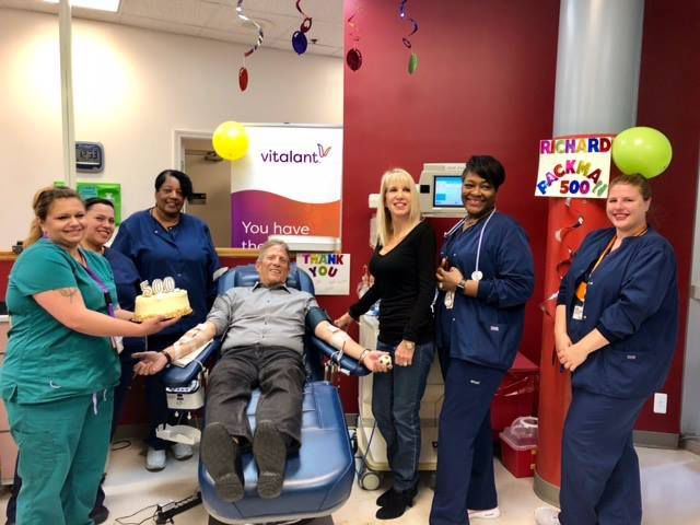 500th blood donation: Man has now done it 500 times