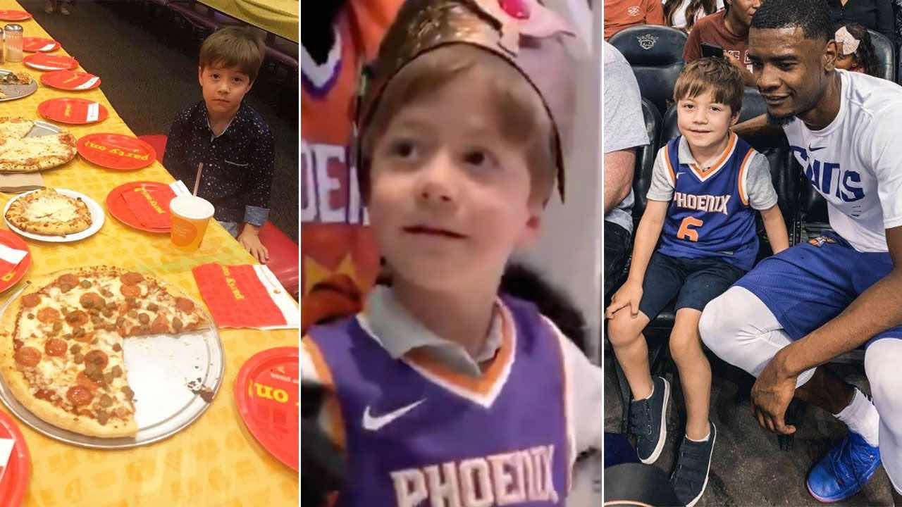 Phoenix Suns VIP treatment: Boy in viral birthday photo