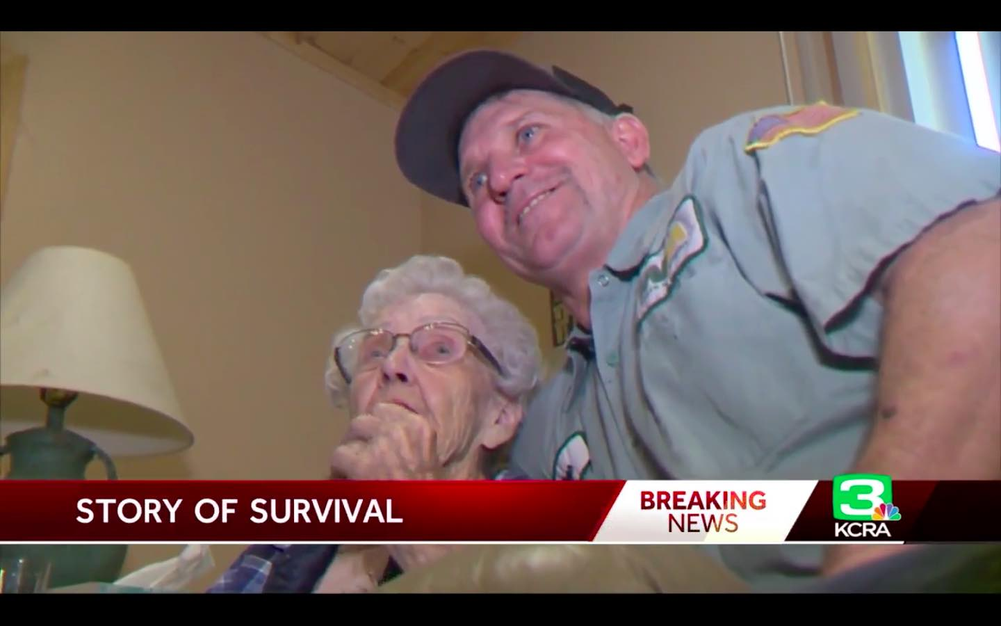 93-year-old saved: garbage collector pulls woman into truck