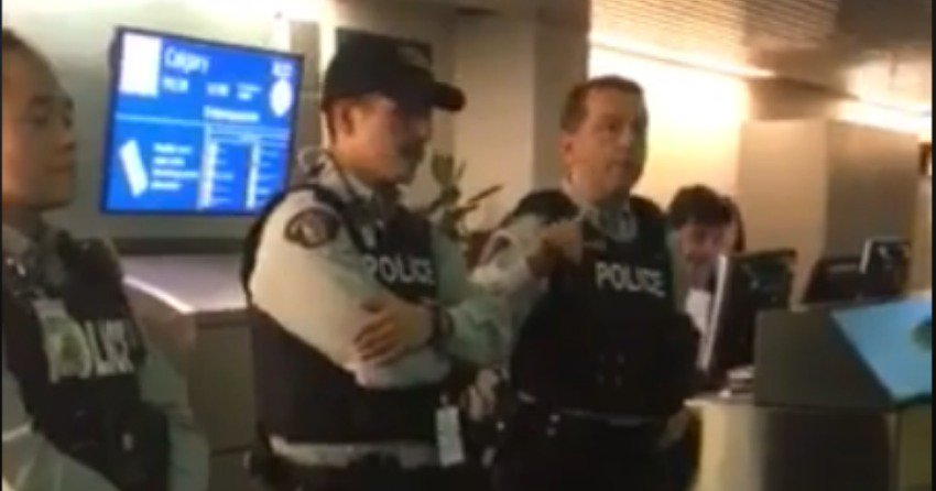 Flair airline calling cops On Frustrated Passengers