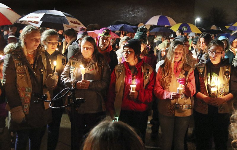 Girl Scouts hit by truck remembered at emotional vigil