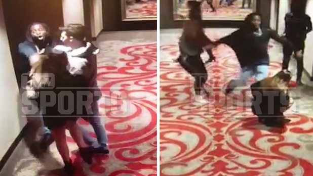 KC Chiefs running back Kareem Hunt kicks girl (Watch Video)
