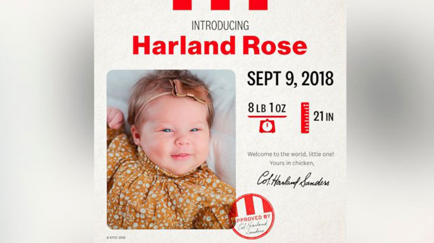 KFC Gifts $11K to Baby Named Harland After Colonel Sanders, Report
