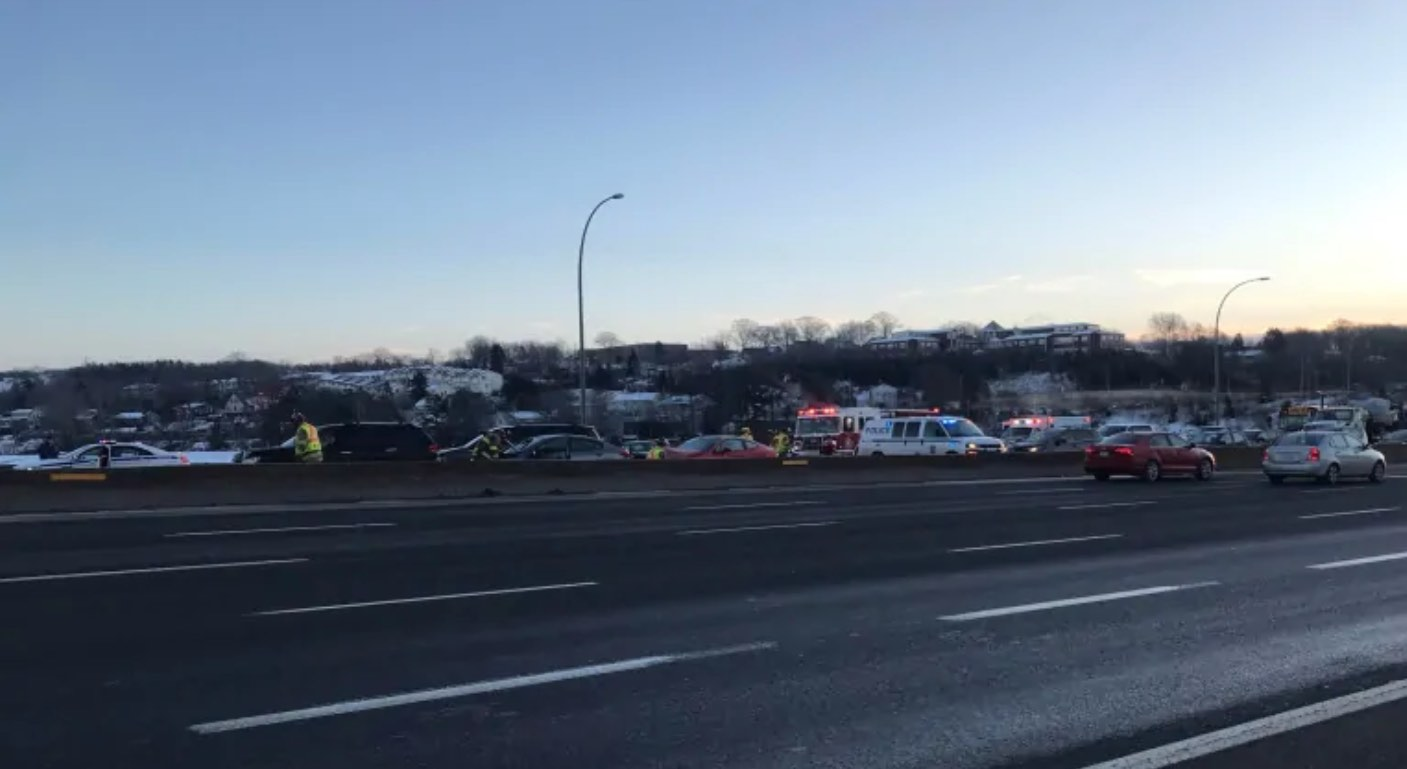 Highway 111 Halifax closed after 8-vehicle crash (Reports)