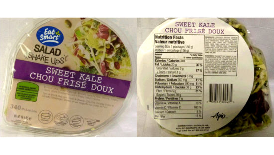 Listeria finding prompts nationwide recall of kale salad (Reports)