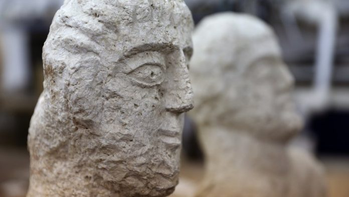 Roman busts found in Israel, archaeologists said Sunday