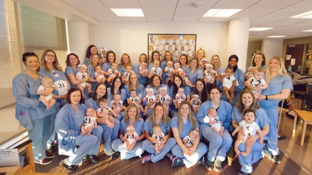 St. Cloud Hospital 32 babies, some special deliveries for the women